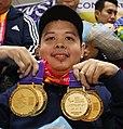 Sander Severino medals (cropped).jpg