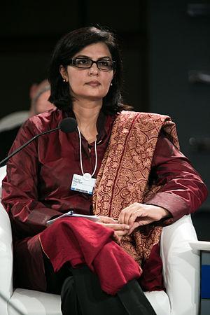 Sania Nishtar - Image: Sania Nishtar at the World Economic Forum on India 2012