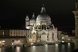 Santa Maria della Salute from Hotel Monaco nightview.jpg