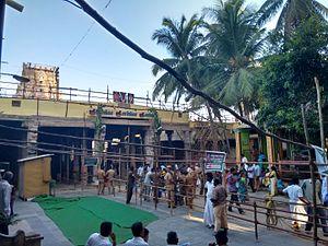 Sarangapani temple, Kumbakonam - Temple premises during consecration in 2015