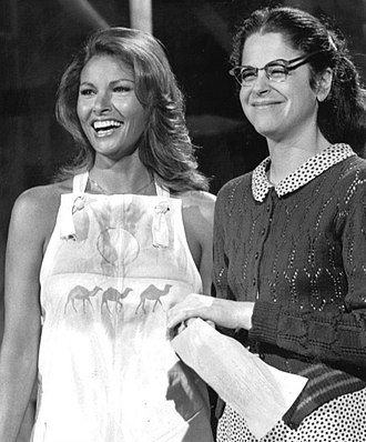 Raquel Welch -  Saturday Night Live, 1976, with Gilda Radner(right)