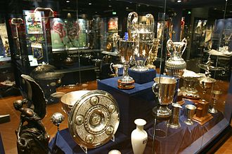 Hamburger SV - One trophy from all of the competitions Hamburg has won in the HSV-Museum