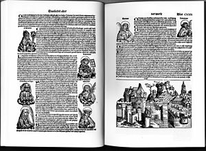 Nuremberg Chronicle - A typical opening, uncoloured