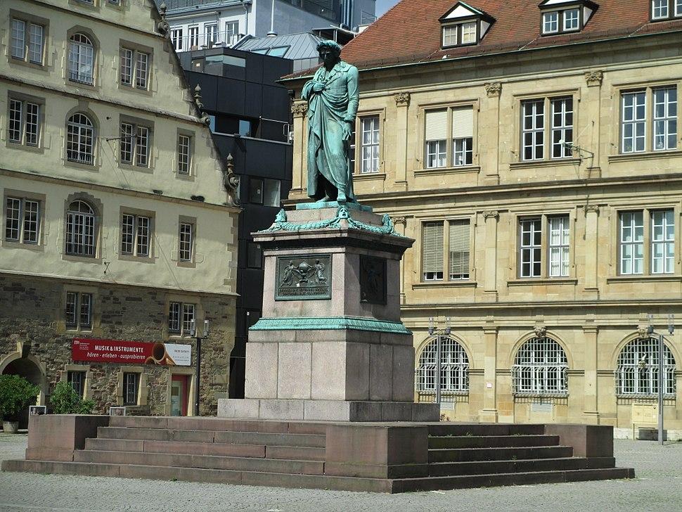 Schiller memorial in Stuttgart