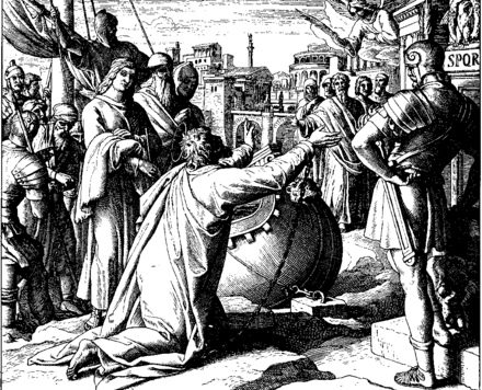 Paul Arrives in Rome, from Die Bibel in Bildern Schnorr von Carolsfeld Bibel in Bildern 1860 235.png
