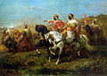 Schreyer Adolf The Skirmish Oil On Canvas.jpg