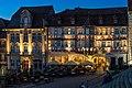Schwäbisch Hall - Altstadt - Am Markt 10-11 - Ansicht von der Treppe in blauer Stunde.jpg