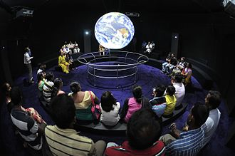 Science City Kolkata - The Science On a Sphere show at Dynamotion Hall.