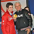 Scott Moir & Tessa Virtue with Gordon Campbell at 2010 Winter Olympics 2010-02-22.jpg