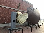 "Screw propeller and rudder of Battleship ""Mutsu"" in front of Yamato Museum.jpg"
