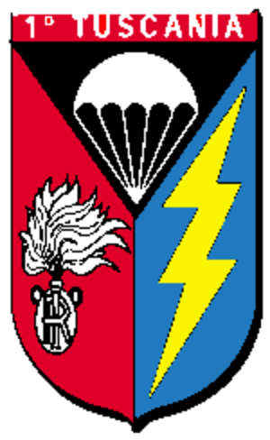 "1st Paratroopers Carabinieri Regiment ""Tuscania"" - Image: Scudetto Rgt Tuscania CC"