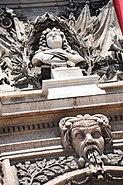 Sculptural elements decorating Hôtel de ville de Marseille facade. Marseille, Provence-Alpes-Côte d'Azur, Southeastern France , Western Europe-3