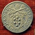 Scuola romana, medaglia di pio IV, stemma medici, argento.JPG
