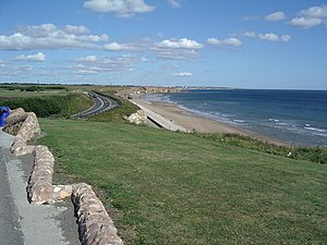 Seaham - The coast at Seaham, looking towards Sunderland