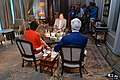 Secretaries Kerry and Pritzker sit for interview with NDTV host Prannoy Roy.jpg