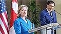 Secretary Clinton and President of Georgia Saakashvili (Tbilisi, 2010).jpg