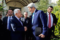 Secretary Kerry Says Goodbye to Palestinian Authority President Abbas After Meeting in Amman Amid Series of Conversations in Jordan.jpg