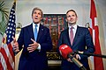 Secretary Kerry and Danish Foreign Minister Jensen Address Reporters Before a Working Dinner in Copenhagen (27727612195).jpg