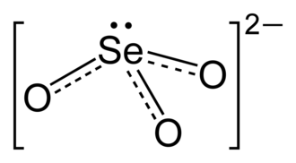 Selenite (ion) - Structure of selenite