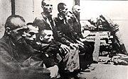 Serb prisoners in Jasenovac, 1942