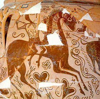 Iberians - Horseman from Iberian pottery, Alicante