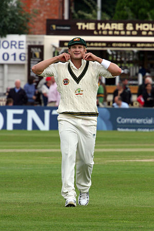 Shane Watson in the field against Northamptons...