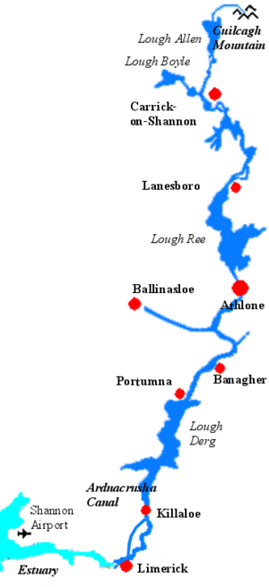 Shannon–Erne Waterway - Image: Shannon Riversml