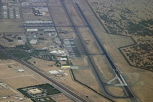 Sharjah International Airport - Aerial view