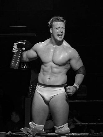 Sheamus - Sheamus O'Shaunessy after retaining the IWW International Heavyweight Championship on 14 November 2005