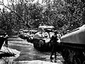 Sherman tanks roll along the beach of New Britain island.jpg