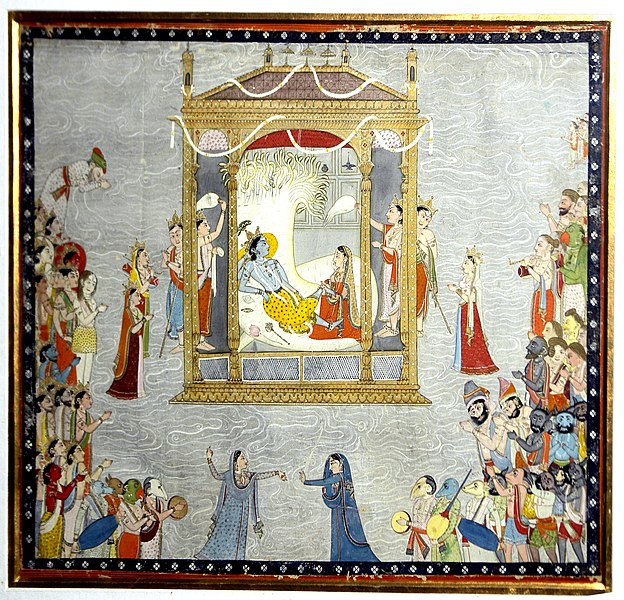 File:Sheshsayi Vishnu and Lakshmi enjoying festivity, National Museum, New Delhi.jpg