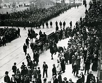 Sholem Aleichem - Sholem Aleichem's funeral on May 15, 1916
