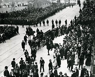 Sholem Aleichem - Sholem Aleichem's funeral on May 15, 1916