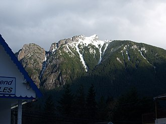 Mount Si - A winter view of Mt. Si from the town of North Bend