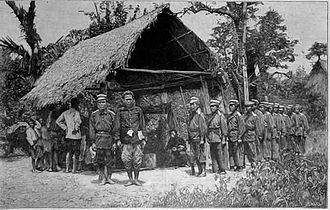 French Indochina - Siamese army in the disputed territory of Laos in 1893.
