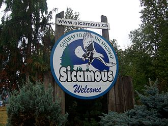 Sicamous - Image: Sicamous' welcome sign