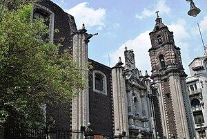"Temple of San Felipe Neri ""La Profesa"" - Madero Street facade"
