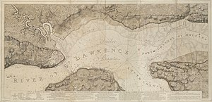 Battle of Beauport - A 1777 map depicting the military positions of the French and British during the Siege of Quebec