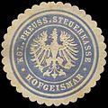 Siegelmarke Kgl. Preuss. Steuerkasse Hofgeismar W0310435.jpg