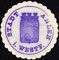 Siegelmarke Stadt Ahlen in Westfalen W0229264.jpg