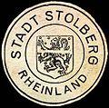 Siegelmarke Stadt Stolberg Rheinland W0221507.jpg