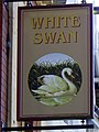 Sign for the White Swan - geograph.org.uk - 2576944.jpg