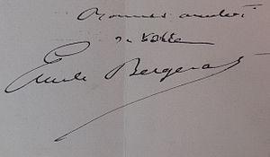 Émile Bergerat - Signature of Émile Bergerat