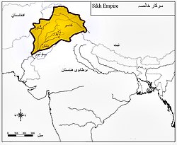 Location of Sikh Raj Punjab Empire