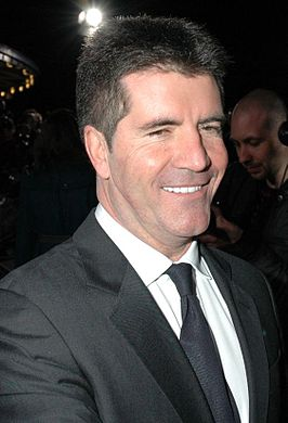 Simon Cowell in de Royal Albert Hall in Londen.