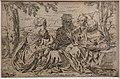 Simone cantarini, sacra famiglia con elisabetta e giovannino, acquaforte (coll. gollini).jpg