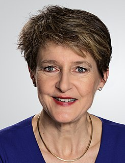 Simonetta Sommaruga member of the Swiss Federal Council, Federal President