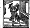 Simple Simon's misfortunes and his wife Margery's cruelty, which began the very next morning after their marriage Fleuron T190535-1.png