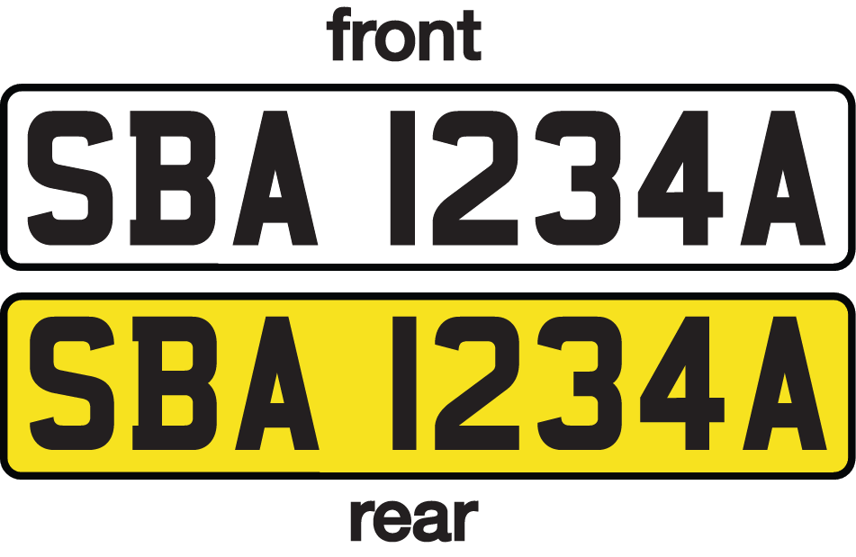 Singapore licence plate 2000 front and rear