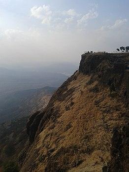Sinhgad Fort-Sahyadri mountain ranges.jpg